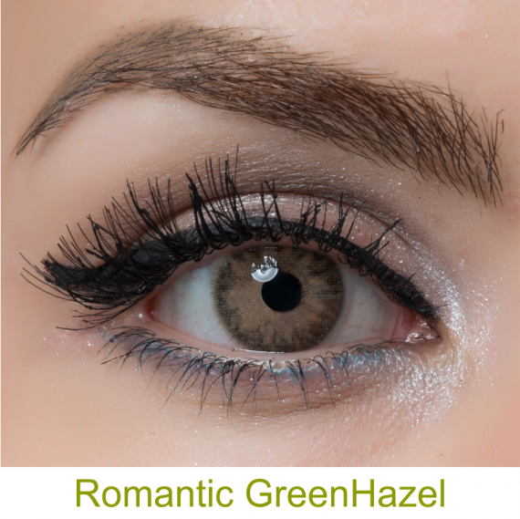 arcobaleno romantic greenhazel lens