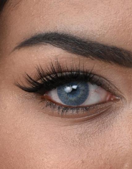 Hypnose New Hollywood Blue Yeni Versiyon Renkli Kozmetik Lens Göz