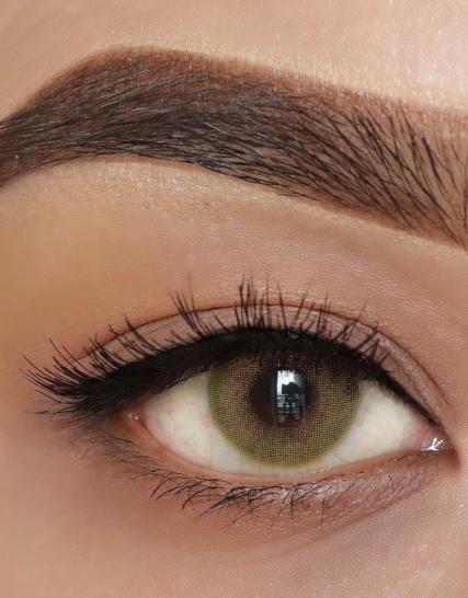 hypnose hollywood olive green yeni versiyon renkli kozmetik lens göz
