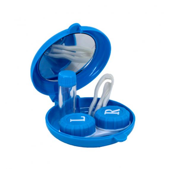 balık şeklinde lens kabı içi - mavi