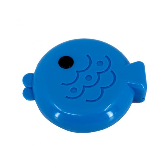 balık şeklinde mavi lens kabı - mavi