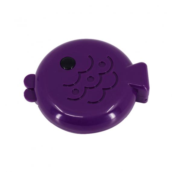 balık şeklinde mor lens kabı - mor