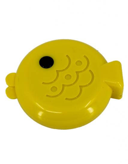 balık şeklinde sarı lens kabı - sarı